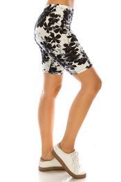 black floral short
